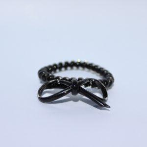 Čierna gumička do vlasov s mašličkou Hairfix - Bow Black