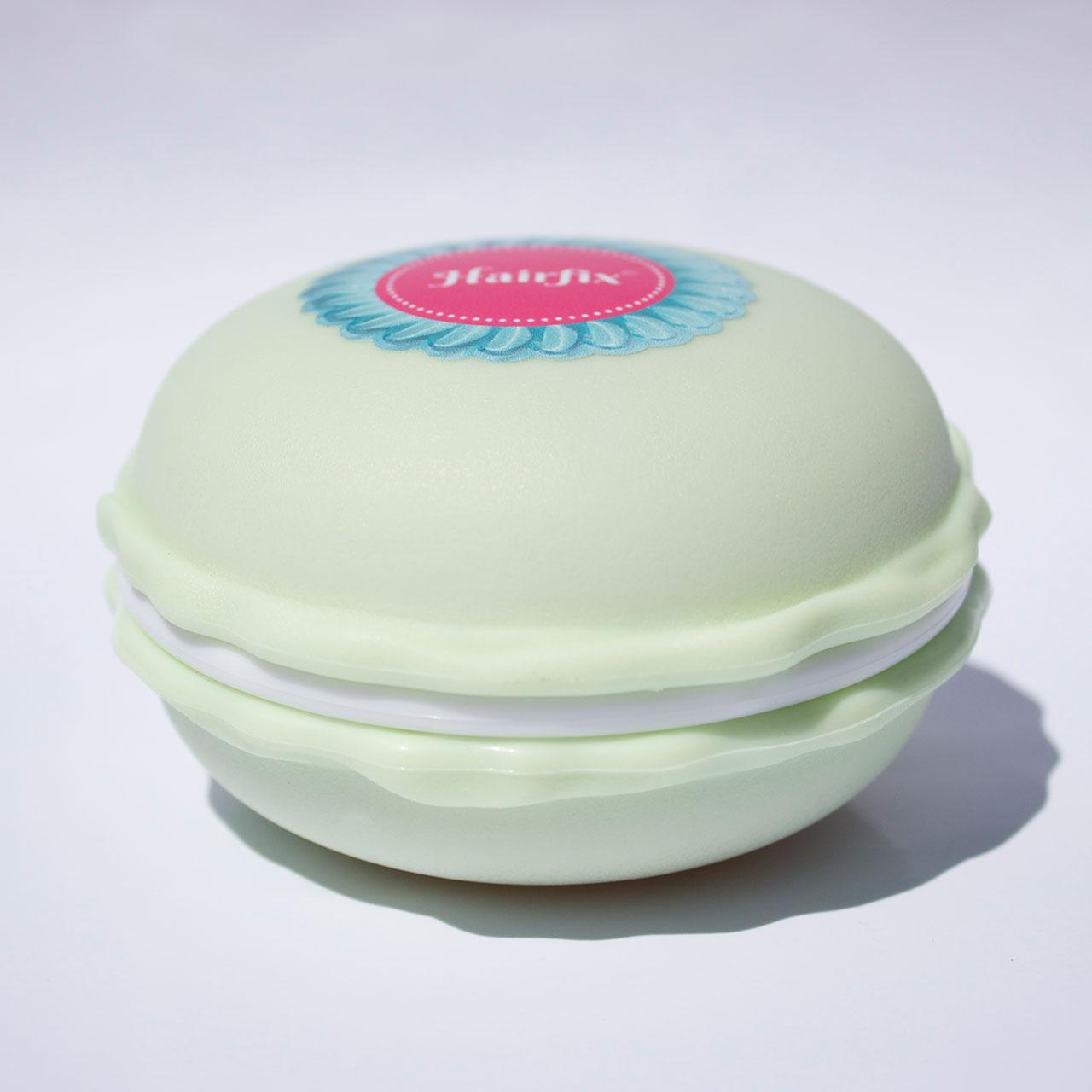 Mentolová krabička na gumičky Hairfix - Macaron Box Mint