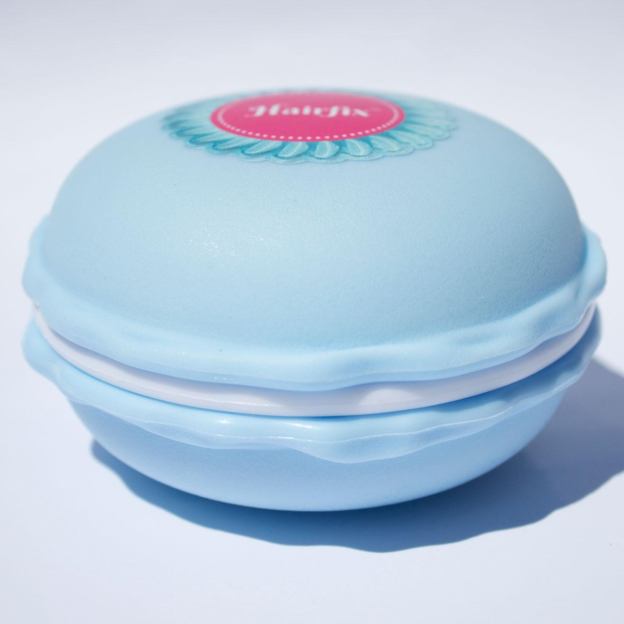 Bledomodrá krabička na gumičky Hairfix - Macaron Box Baby Blue