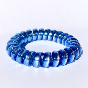 Modrá gumička do vlasov Hairfix - Metallic Rainbow Night Sky