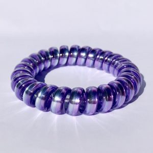 Fialovo-modrá gumička do vlasov Hairfix - Metallic Rainbow Lavender