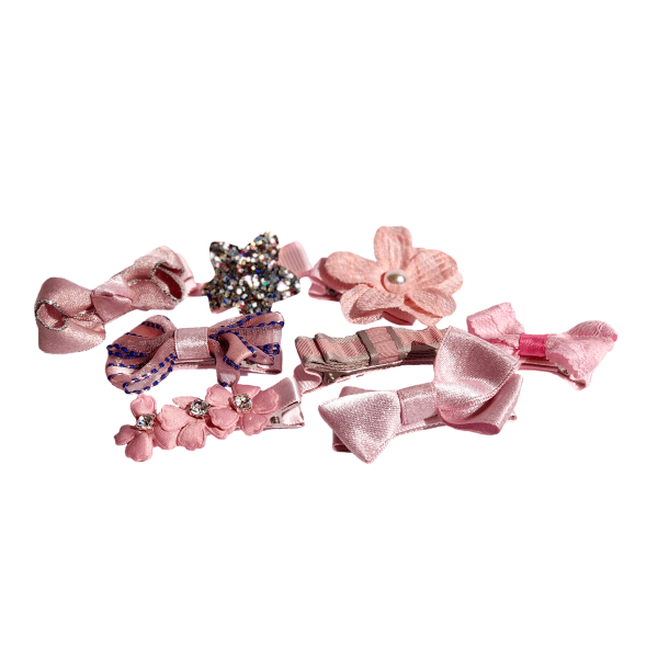 Luxusný set sponiek v ružových tónoch