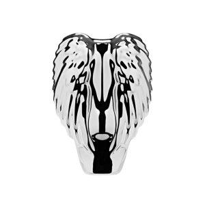 Titanium strieborná metalická skladacia kefa Tangle Angel PRO COMPACT so zrkadlom