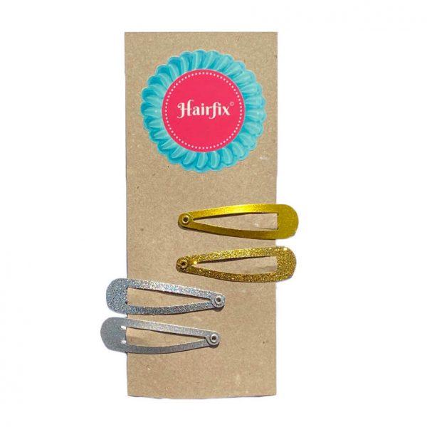 Set 4 sponiek do vlasov Hairfix - 2 zlaté a 2 strieborné