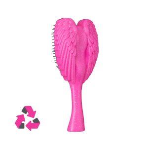 Sýtoružová kefa do vlasov s trblietkami z recyklovaných plastov Re:Born Pink Sparkle